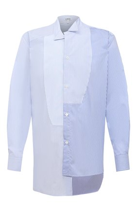 Мужская хлопковая рубашка LOEWE голубого цвета, арт. H526337W04 | Фото 1