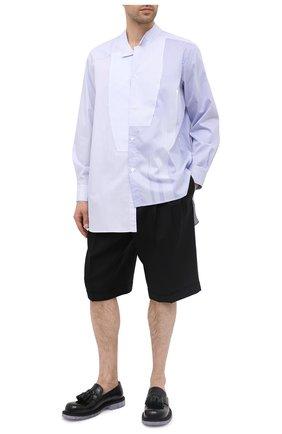Мужская хлопковая рубашка LOEWE голубого цвета, арт. H526337W04 | Фото 2