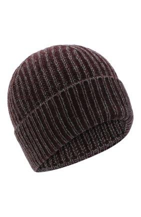 Мужская кашемировая шапка ERMENEGILDO ZEGNA бордового цвета, арт. Z8I33/B88   Фото 1