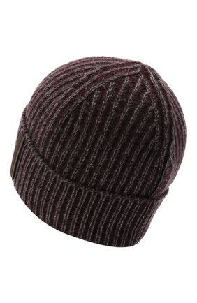 Мужская кашемировая шапка ERMENEGILDO ZEGNA бордового цвета, арт. Z8I33/B88   Фото 2