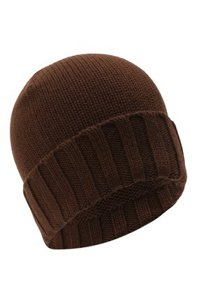Мужская кашемировая шапка ERMENEGILDO ZEGNA коричневого цвета, арт. Z8I31/ZI9 | Фото 1