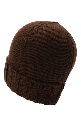 Мужская кашемировая шапка ERMENEGILDO ZEGNA коричневого цвета, арт. Z8I31/ZI9 | Фото 2