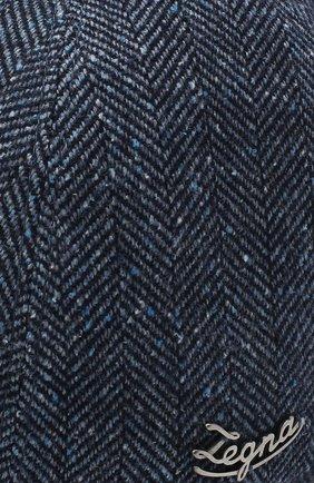 Мужской бейсболка из шерсти и шелка ERMENEGILDO ZEGNA синего цвета, арт. Z8I03/B8E   Фото 3
