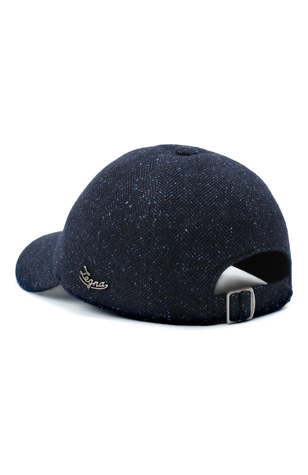 Мужской бейсболка из шерсти и шелка ERMENEGILDO ZEGNA темно-синего цвета, арт. Z8I03/B8E   Фото 2