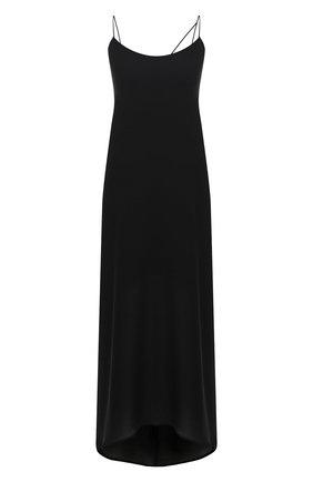 Женское шелковое платье ISABEL BENENATO черного цвета, арт. DW33F20   Фото 1