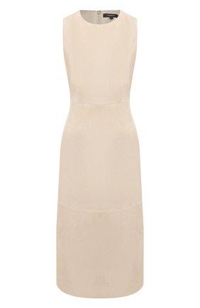 Женское замшевое платье THEORY бежевого цвета, арт. K0600613 | Фото 1