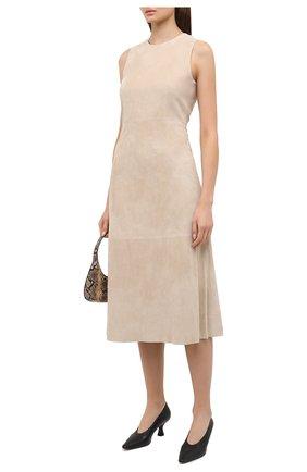 Женское замшевое платье THEORY бежевого цвета, арт. K0600613 | Фото 2