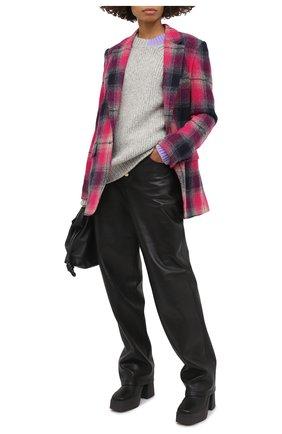 Женский шерстяной свитер HELMUT LANG серого цвета, арт. K06HM706   Фото 2