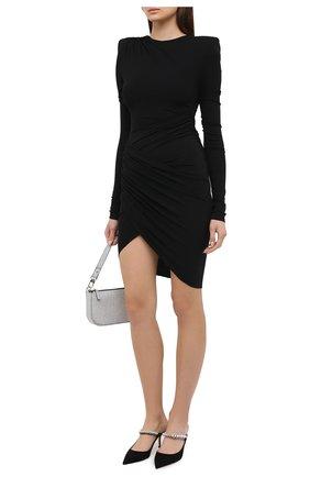 Женское платье из вискозы ALEXANDRE VAUTHIER черного цвета, арт. 203DR1322 1029-202 | Фото 2
