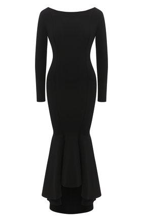 Женское платье из вискозы ALEXANDRE VAUTHIER черного цвета, арт. 203KDR1300 0333   Фото 1
