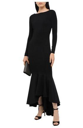 Женское платье из вискозы ALEXANDRE VAUTHIER черного цвета, арт. 203KDR1300 0333   Фото 2