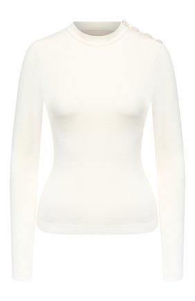Женский шерстяной пуловер ALEXANDRE VAUTHIER белого цвета, арт. 203KT01303 1328-203 | Фото 1