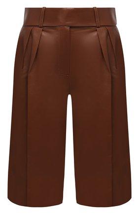Женские кожаные шорты ALEXANDRE VAUTHIER коричневого цвета, арт. 203LPA1300 0404 | Фото 1