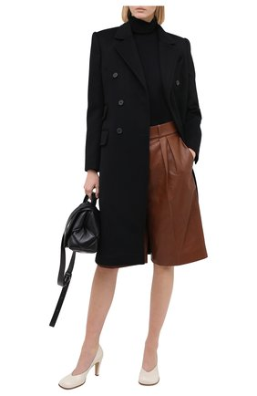 Женские кожаные шорты ALEXANDRE VAUTHIER коричневого цвета, арт. 203LPA1300 0404 | Фото 2