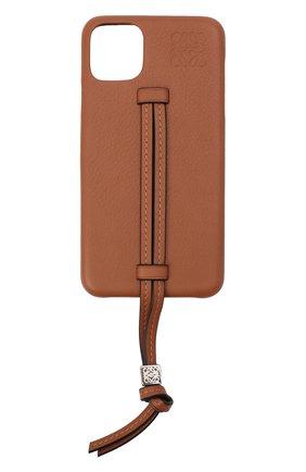 Мужской чехол для iphone 11 pro max LOEWE светло-коричневого цвета, арт. C691C54X01 | Фото 1
