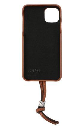 Мужской чехол для iphone 11 pro max LOEWE светло-коричневого цвета, арт. C691C54X01 | Фото 2
