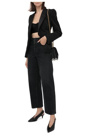 Женская топ DOLCE & GABBANA черного цвета, арт. F7ZH3T/GDC21 | Фото 2