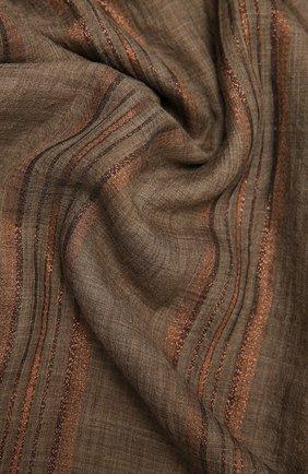 Женский шарф BRUNELLO CUCINELLI коричневого цвета, арт. MSCDAGW41 | Фото 2