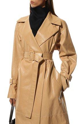 Женский шерстяной шарф SAINT LAURENT темно-синего цвета, арт. 641910/3Y210 | Фото 2 (Материал: Шерсть)