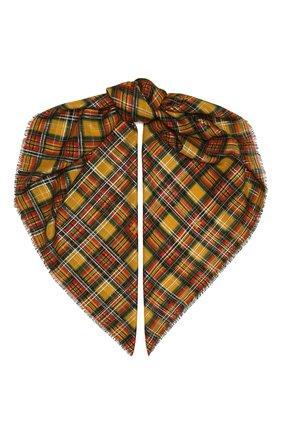 Женский шарф SAINT LAURENT разноцветного цвета, арт. 637057/3YG38   Фото 1 (Материал: Шерсть)