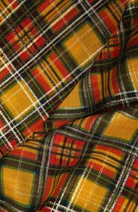 Женский шарф SAINT LAURENT разноцветного цвета, арт. 637057/3YG38   Фото 2 (Материал: Шерсть)