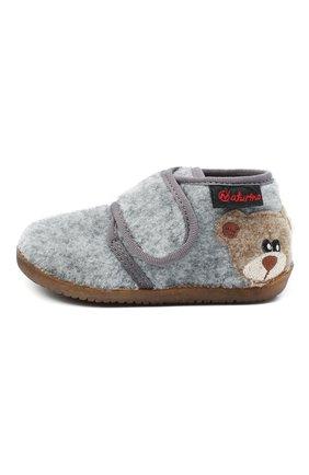 Детского домашние ботинки NATURINO серого цвета, арт. 0014000627/01/20-23 | Фото 2 (Материал внутренний: Натуральная кожа, Текстиль; Материал внешний: Текстиль; Кросс-КТ: велькро)
