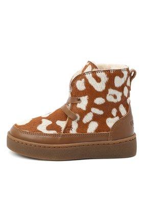Детские кожаные ботинки DONSJE AMSTERDAM коричневого цвета, арт. 1011-CB009-00000 | Фото 2