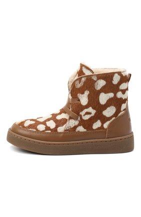 Детские кожаные ботинки DONSJE AMSTERDAM коричневого цвета, арт. 1012-CB009-00000 | Фото 2