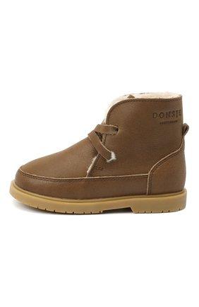 Детские кожаные ботинки DONSJE AMSTERDAM хаки цвета, арт. 1015-CL021-00000 | Фото 2