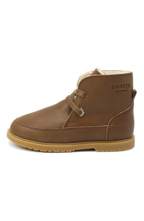 Детские кожаные ботинки DONSJE AMSTERDAM хаки цвета, арт. 1016-CL021-00000 | Фото 2