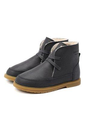 Детские кожаные ботинки DONSJE AMSTERDAM синего цвета, арт. 1016-CL007-00000 | Фото 1