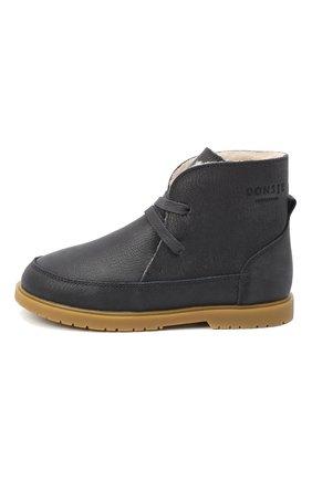 Детские кожаные ботинки DONSJE AMSTERDAM синего цвета, арт. 1016-CL007-00000 | Фото 2