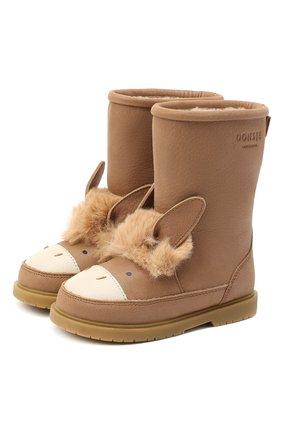 Детские кожаные сапоги DONSJE AMSTERDAM коричневого цвета, арт. 1005-ST078-CL018 | Фото 1