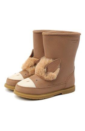 Детские кожаные сапоги DONSJE AMSTERDAM коричневого цвета, арт. 1006-ST078-CL018 | Фото 1