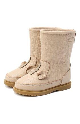 Детские кожаные сапоги DONSJE AMSTERDAM бежевого цвета, арт. 0808-ST109-CL006 | Фото 1