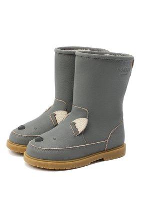 Детские кожаные сапоги DONSJE AMSTERDAM серого цвета, арт. 1003-ST056-CL024 | Фото 1