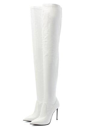 Женские ботфорты LE SILLA белого цвета, арт. 2145R100R1PPP0L | Фото 1