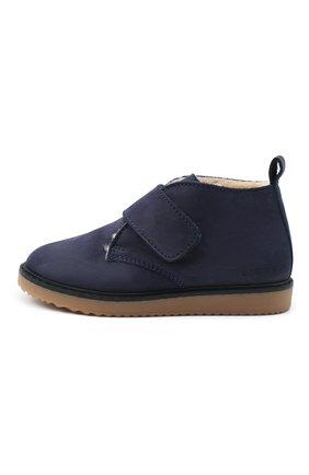 Детские кожаные ботинки EMPORIO ARMANI синего цвета, арт. XMN005/X0R07 | Фото 2