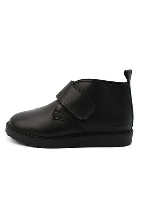 Детские кожаные ботинки EMPORIO ARMANI черного цвета, арт. XMN005/X0R08 | Фото 2