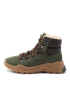 Детские кожаные ботинки EMPORIO ARMANI хаки цвета, арт. XYZ003/X0R05/35-40 | Фото 2