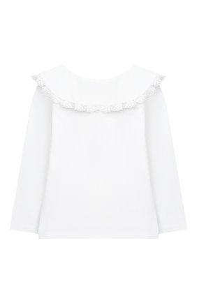 Детская хлопковая блузка DOUUOD белого цвета, арт. 20I/U/JR/TE02/1231/10A-14A | Фото 2