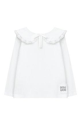Детская хлопковая блузка DOUUOD белого цвета, арт. 20I/U/JR/TE02/1231/4A-8A | Фото 1