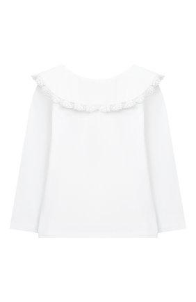 Детская хлопковая блузка DOUUOD белого цвета, арт. 20I/U/JR/TE02/1231/4A-8A | Фото 2