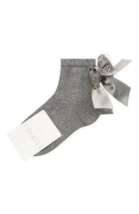 Детские хлопковые носки LA PERLA серого цвета, арт. 47049/3-6 | Фото 1
