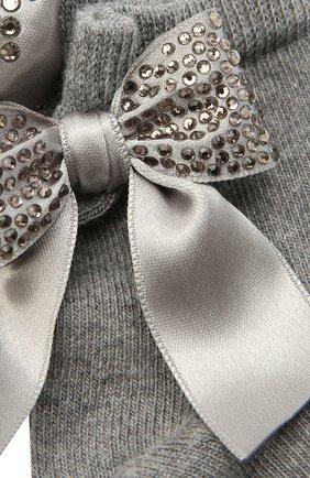 Детские хлопковые носки LA PERLA серого цвета, арт. 47049/3-6 | Фото 2