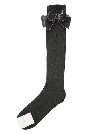 Детские хлопковые носки LA PERLA темно-серого цвета, арт. 47872/9-12 | Фото 1
