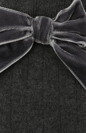 Детские хлопковые носки LA PERLA темно-серого цвета, арт. 47872/9-12 | Фото 2