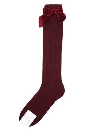 Детские хлопковые носки LA PERLA бордового цвета, арт. 47872/9-12 | Фото 1
