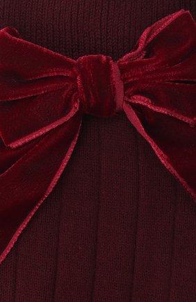 Детские хлопковые носки LA PERLA бордового цвета, арт. 47872/9-12 | Фото 2