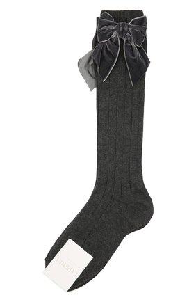 Детские хлопковые носки LA PERLA темно-серого цвета, арт. 47872/7-8 | Фото 1